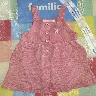 familiar - familiar ワンピース 80センチ ジャンパースカート 美品 80