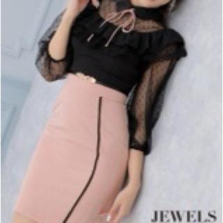 ジュエルズ(JEWELS)のジュエルズ ピンク×ブラック キャバドレス Sサイズ(ナイトドレス)
