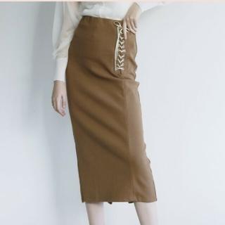 ハニーミーハニー(Honey mi Honey)のside laceup thermal skirt honeymihoney (ロングスカート)