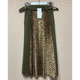 sacai - 20AW sacai Leopard Dot Skirtサイズ1ブラウン