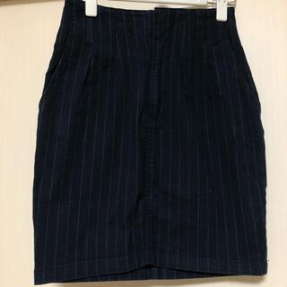ヘザー(heather)のストライプ スカート (ひざ丈スカート)