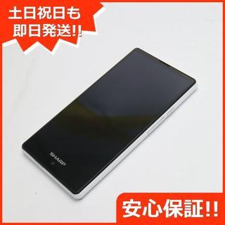 シャープ(SHARP)の美品 SIMフリー AQUOS mini SH-M03 ホワイト (スマートフォン本体)