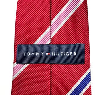 トミーヒルフィガー(TOMMY HILFIGER)のTOMMY HILFIGER トミーヒルフィガー 高級シルク 人気ストライプ(ネクタイ)