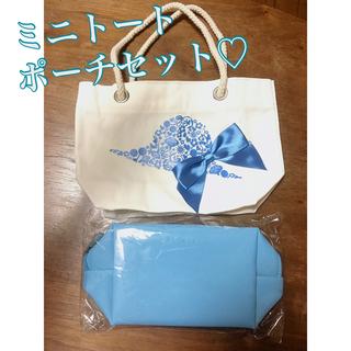 アルビオン(ALBION)の水色 ミニトート ポーチ セット♡(トートバッグ)
