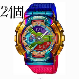 ジーショック(G-SHOCK)の2個 カシオG-SHOCK GM-110RB-2AJF ジーショック レインボー(腕時計(デジタル))