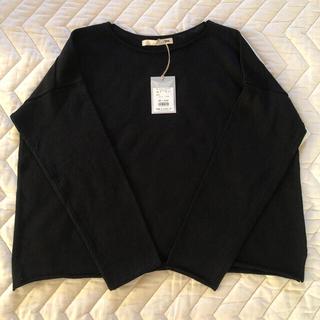 エヴァムエヴァ(evam eva)のevam eva/ dry cotton PO  ブラック(シャツ/ブラウス(長袖/七分))