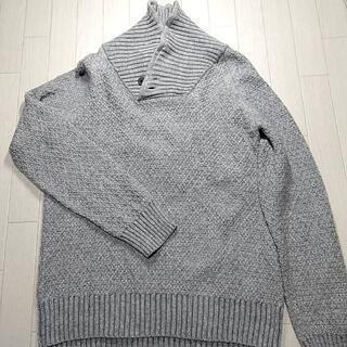 エイチアンドエム(H&M)のH&M メンズ ニット トップス セーター グレー M 綺麗 エイチアンドエム(ニット/セーター)
