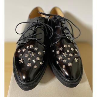 ジーナシス(JEANASIS)のスタッズ付き厚底シューズ(ローファー/革靴)