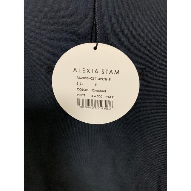 ALEXIA STAM(アリシアスタン)のアリシアスタン チャコール Tシャツ バーニーズ  レディースのトップス(Tシャツ(半袖/袖なし))の商品写真
