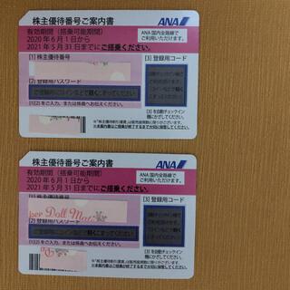 エーエヌエー(ゼンニッポンクウユ)(ANA(全日本空輸))のANA 全日空 全日本空輸  株主優待券 2枚(航空券)