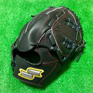エスエスケイ(SSK)の新品 SSK 海外モデル 硬式用 投手用 グローブ ブラック 銀シリーズ(グローブ)