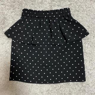 GU - gukidsドット柄ペプラムタイトスカート☆130センチ