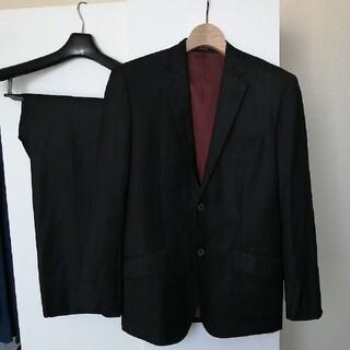 コムサイズム(COMME CA ISM)のコムサイズム セットアップ メンズスーツ ブラック ストライプ(セットアップ)