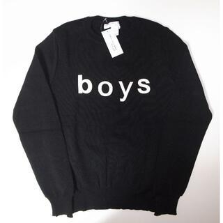 コムデギャルソン(COMME des GARCONS)のコムデギャルソン boy logo ニット black sizeL(ニット/セーター)