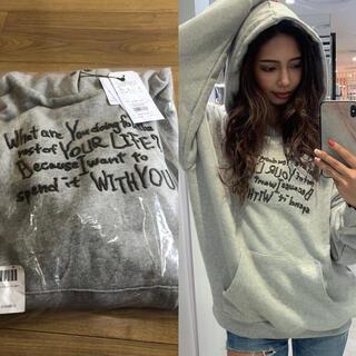 ジェイダ(GYDA)のGYDA♡新品♡message embroidery BIGスウェットパーカー(パーカー)