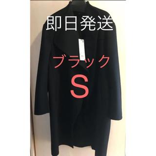 UNIQLO - UNIQLO +J カシミヤブレンドノーカラーコート black ブラック  S
