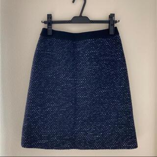 インディヴィ(INDIVI)のINDIVI ラメ入りオシャレスカート(ひざ丈スカート)