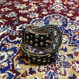 ジョンローレンスサリバン(JOHN LAWRENCE SULLIVAN)のVINTAGE over-buckle jewel & studs belt(ベルト)
