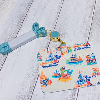 Disney - 合皮☆ディズニーレトロ紙袋柄☆IDパスケース