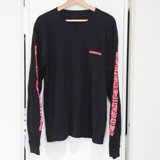 クロムハーツ(Chrome Hearts)のクロムハーツ メンズ ロンT  長袖 ライン レターロゴ ブラック 蛍光 ピンク(Tシャツ/カットソー(七分/長袖))