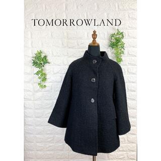 トゥモローランド(TOMORROWLAND)の123 トゥモローランド ウール コート ショートコート 美品(その他)