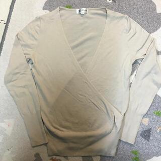 ミッシェルクラン(MICHEL KLEIN)のMICHEL KLEN 深めのVネック薄手セーター(ニット/セーター)