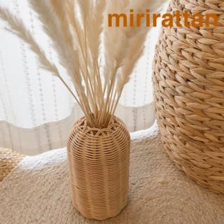 ラタンハンドメイド フラワーベース 花瓶