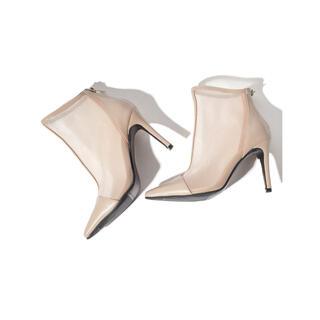 リエンダ(rienda)のポインテッドシアーブーツ シアーショートブーツ メッシュブーツ シアーパンプス(ブーツ)