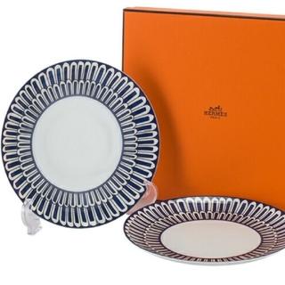 エルメス(Hermes)のエルメス ブルーダイユール デザートプレート皿 (21.5cm) × 2枚!(食器)