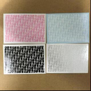 ディオール(Dior)のDIOR ディオール ネイルシール 正規品 4枚セット(ネイル用品)