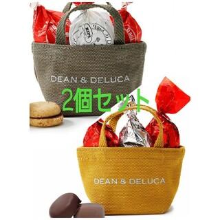 ディーンアンドデルーカ(DEAN & DELUCA)のDEAN&DELUCA ホリデーミニトート【キャラメルイエロー&オリーブ】(菓子/デザート)