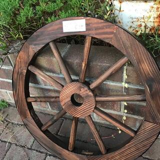 ウッド車輪 トレリス 木製 カントリーガーデンアクセン 飾り ガーデニング(その他)