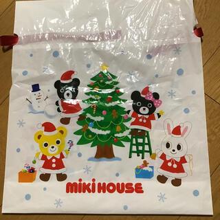 ミキハウス(mikihouse)のミキハウス クリスマス用 ラッピングバッグ(キャラクターグッズ)