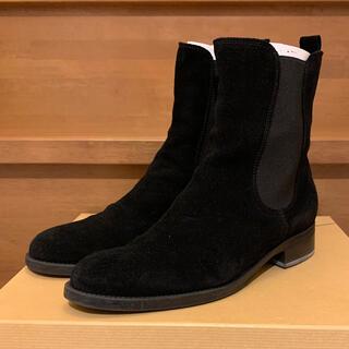 ユナイテッドアローズ(UNITED ARROWS)のUNITED ARROWS スウェードサイドゴアブーツ ブラック 38(ブーツ)