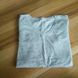 ムジルシリョウヒン(MUJI (無印良品))の無印 シンプル グレーTシャツ(Tシャツ(長袖/七分))