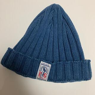 ヒステリックグラマー(HYSTERIC GLAMOUR)のヒステリックグラマー ニット帽 ビーニー ブルー (ニット帽/ビーニー)