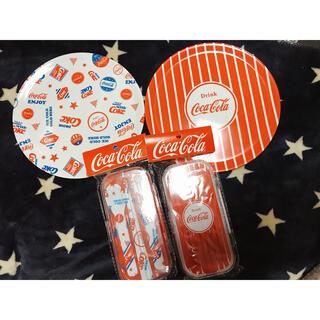 スリーコインズ(3COINS)のスリーコインズ コカコーラ プレートとカトラリーセット(食器)