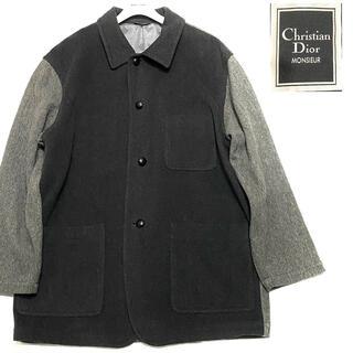 Christian Dior - 美品】クリスチャンディオールムッシュ カシミヤ コート ブルゾン DIOR