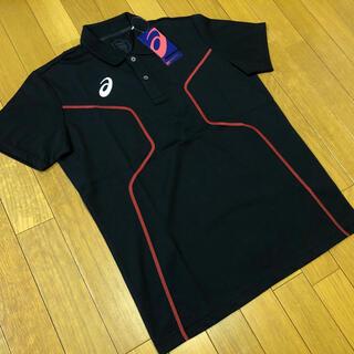 アシックス(asics)の新品未使用 asics D1ポロシャツ黒2XLアシックストレーニング定価5390(ポロシャツ)