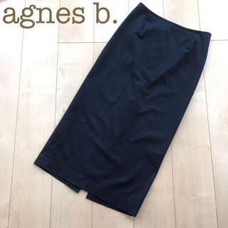 アニエスベー(agnes b.)のagnes b. ストレッチコットンロングタイトスカート 黒 36 フォーマル(ロングスカート)