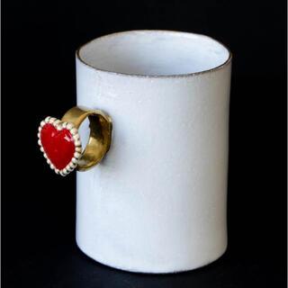 アッシュペーフランス(H.P.FRANCE)のASTIER de VILLATTE  指輪カップ Heart 新品未使用(グラス/カップ)