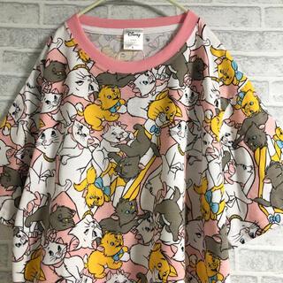 Disney - 【新品】L  おしゃれキャット マリーちゃん Tシャツ 半袖 総柄