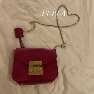 フルラ(Furla)のFURLA チェーンバッグ ピンクパープルカラー(ショルダーバッグ)