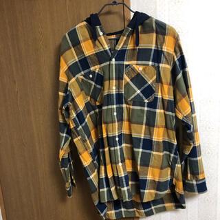 GU - チェックシャツパーカー
