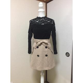 セシルマクビー(CECIL McBEE)のCECIL McBEE 前ボタン ひざ上スカート(ひざ丈スカート)
