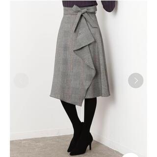 ロペ(ROPE)のロペ  グレンチェックサイドフレアスカート  ミモレ丈 美品♡(ロングスカート)