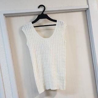 ダブルスタンダードクロージング(DOUBLE STANDARD CLOTHING)のダブルスタンダード、白ニット。(ニット/セーター)