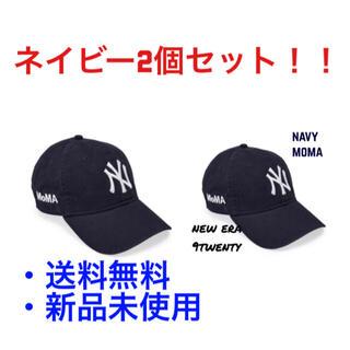 モマ(MOMA)の2個セットネイビー 新品 moma new era NY yankees cap(キャップ)