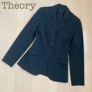 セオリー(theory)のtheory テーラードストレッチジャケット 黒 2 スーツノーカラー(テーラードジャケット)