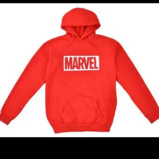 マーベル(MARVEL)の新品未開封  marvel マーベル プレミアムパーカー 赤色(パーカー)